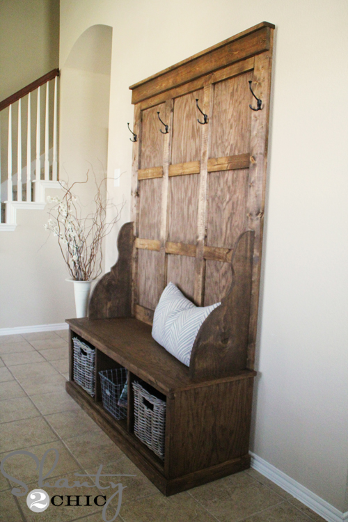 Woodwork Antique Hall Tree Storage Bench Pdf Plans