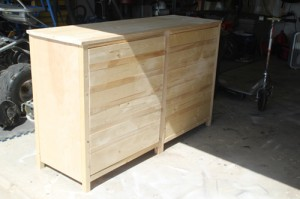 unfinished wood cabinet