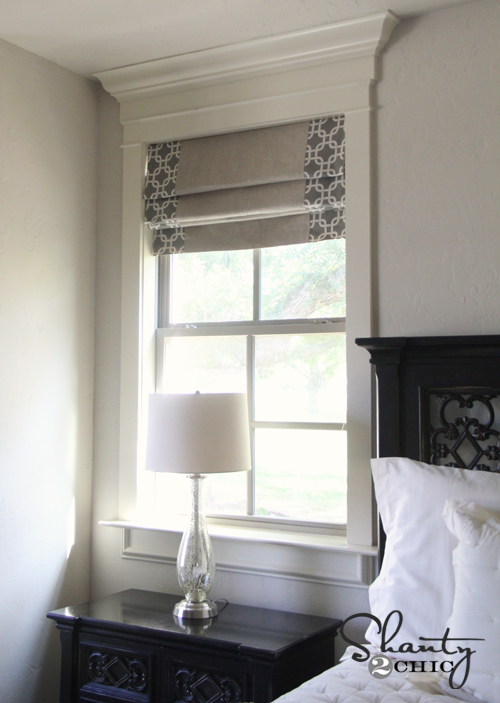 Decorating roman shades for windows : Windows ~ DIY Shades and Panels - Shanty 2 Chic