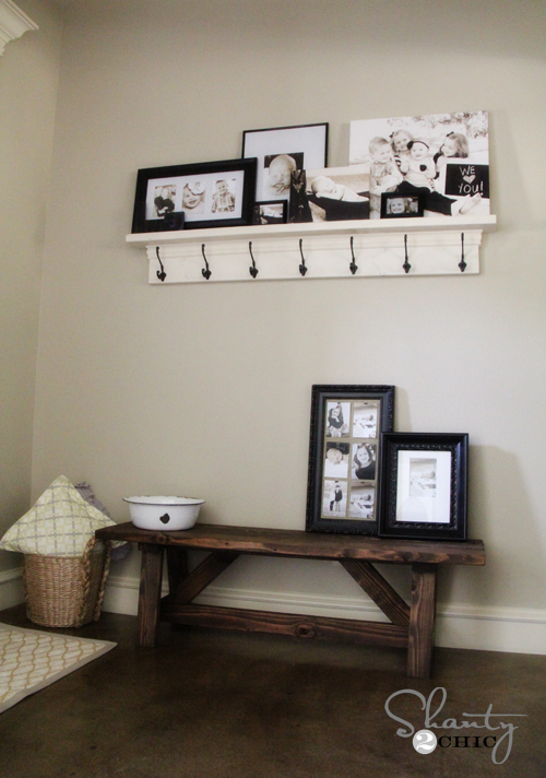 Diy bench for the entryway 15 shanty 2 chic for Farm table plans drawings