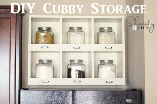how to build a storage shelf
