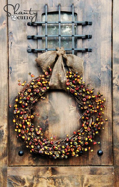 Diy Wreath Fall Shanty 2 Chic