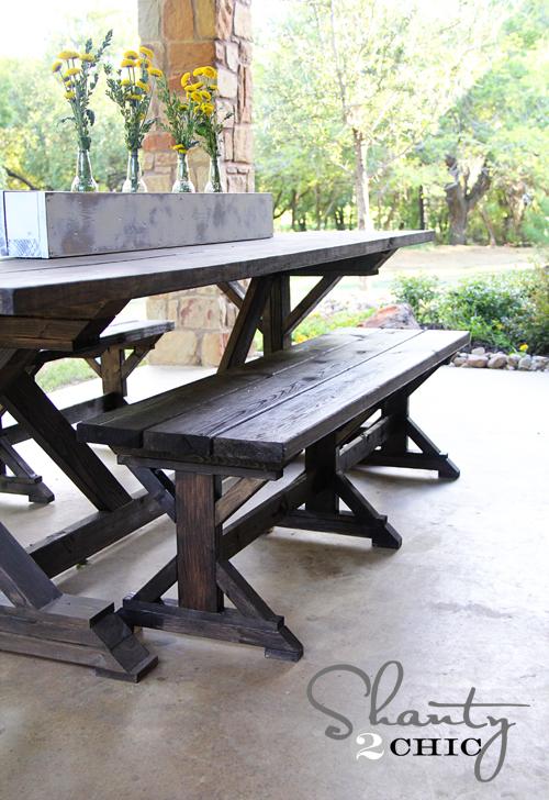DIY Bench Farmhouse Style Shanty 2 Chic