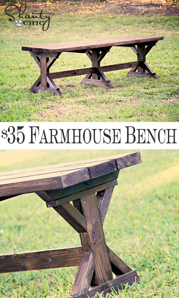 Diy Bench Farmhouse Style Shanty 2 Chic
