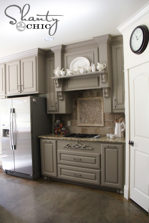 Gallery For Gray Painted Kitchen Cabinets