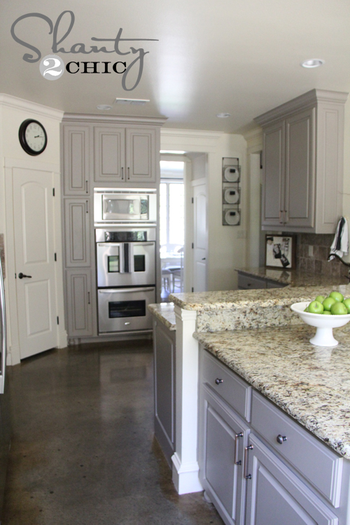 Choosing My Battles And A Paint Color Shanty Chic - Granite for gray cabinets