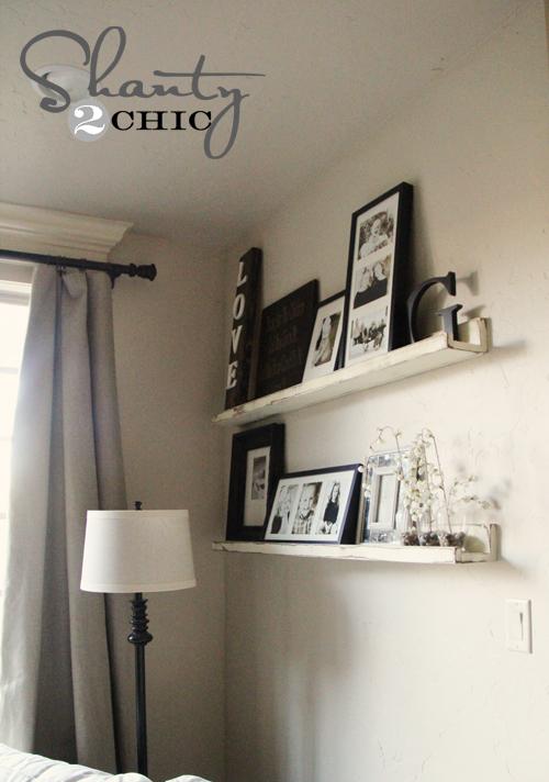 Picture ledge diy shanty 2 chic for Wall shelves and ledges