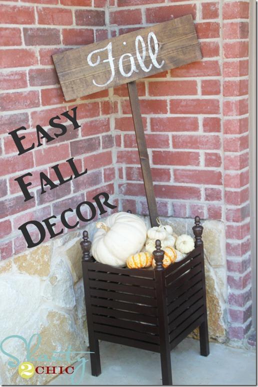 Easy Fall Decor