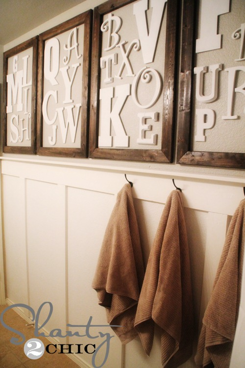 Diy Wall Art Alphabet Wall Shanty 2 Chic