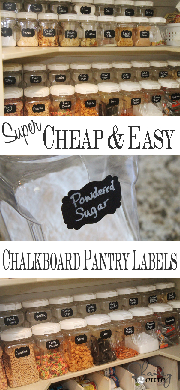 diy labels chalkboard labels for the pantry shanty 2 chic