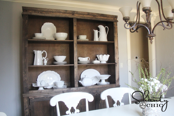 Restoration hardware inspired dining hutch shanty 2 chic for How to build a dining room hutch