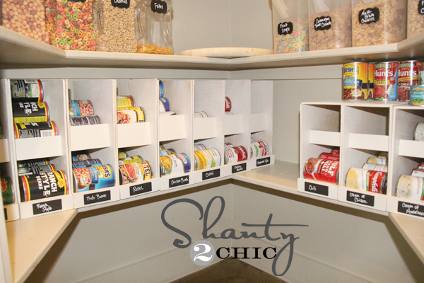 Pantry ideas diy canned food storage shanty 2 chic for Can good storage ideas