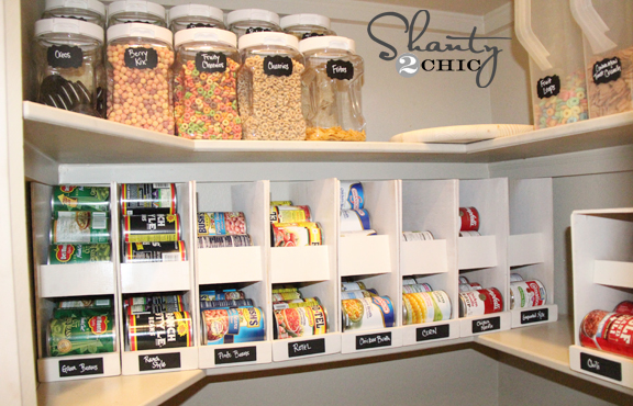 Pantry Ideas - DIY Canned Food Storage - Shanty 2 Chic