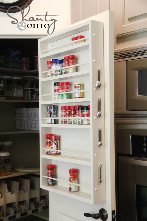 door mounted spice rack plans