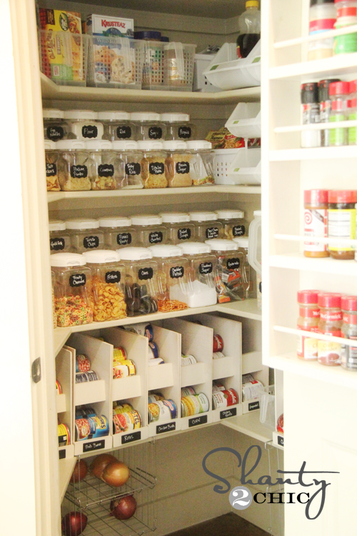 Pantry idea kitchen pinterest pantry ideas wicker for Pantry ideas for a small kitchen
