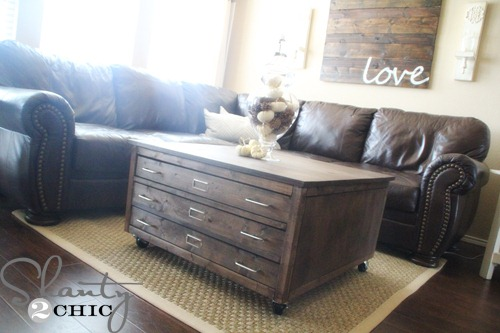 Check Out My Awesome Diy Coffee Table On Wheels Shanty 2
