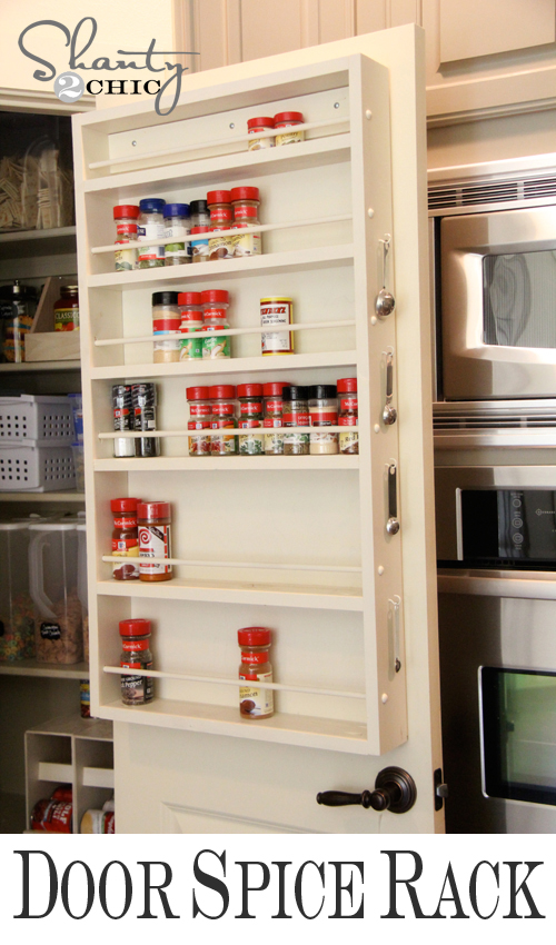 Pantry Ideas Diy Door Spice Rack Shanty 2 Chic