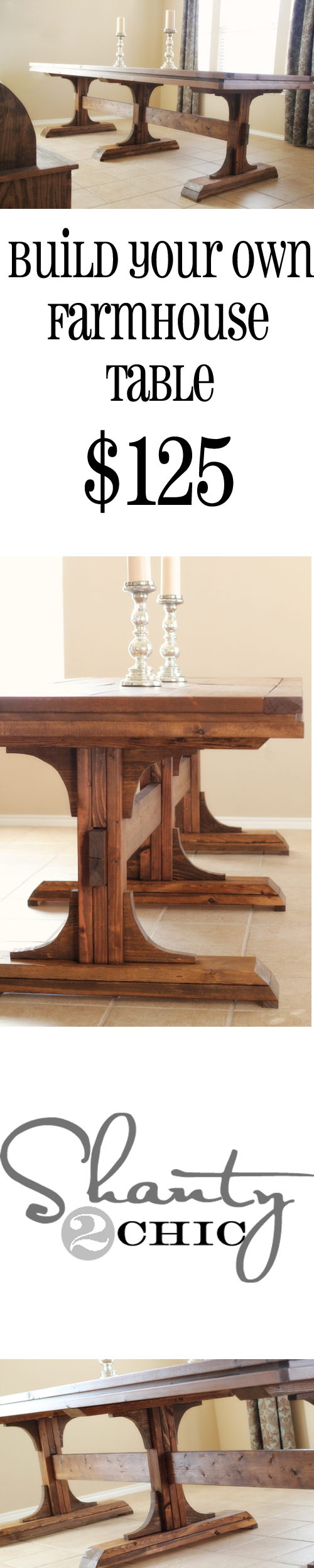 DIY Dining Table Shanty 2 Chic