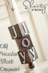 DIY Wooden Block Ornament