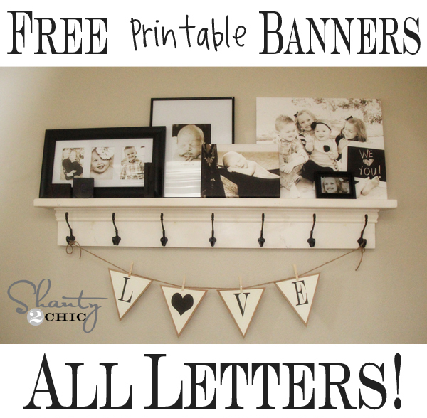 ... Free Printable Banners ~ Numbers & Shapes!!! – Alphabet Banner