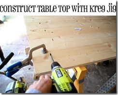 building table top