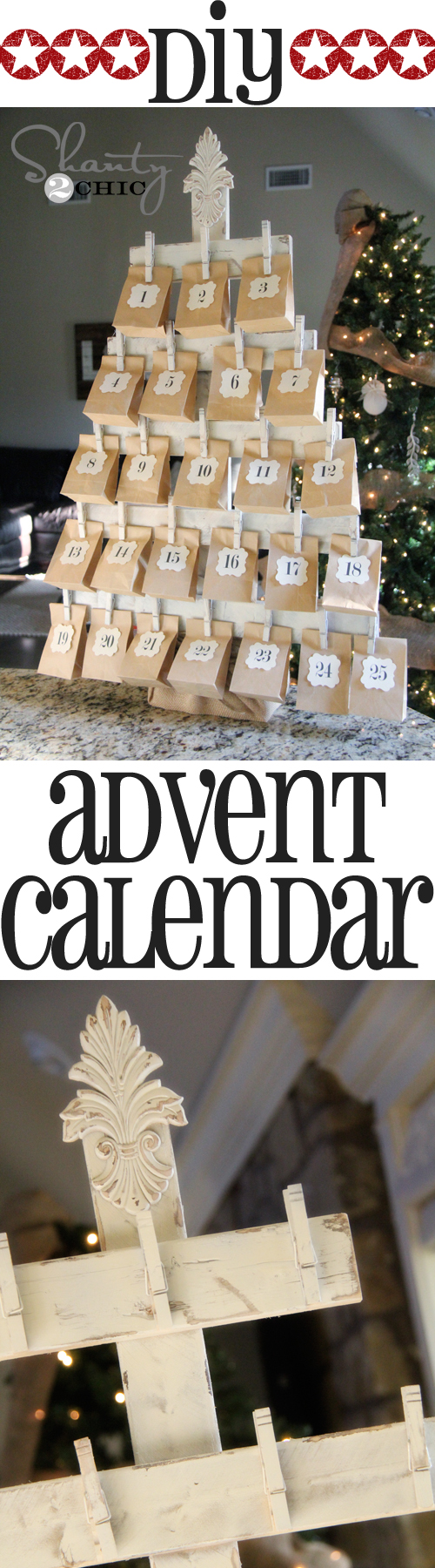 Wood Advent Calendar with FREE Printables! - Shanty 2 Chic