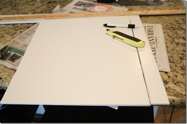 how to cut foam board