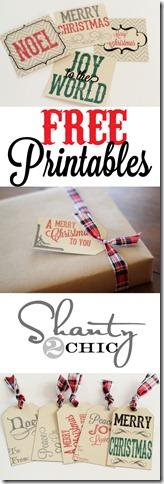 Free Gift Tag Printables