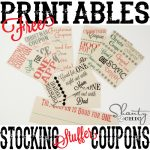 Free Printable ~ Stocking Stuffer Coupons