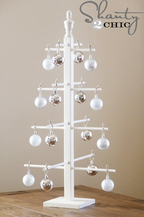 ten dollar wooden ornament tree - Metal Christmas Tree Ornament Display