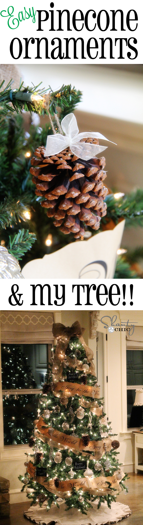 Diy pinecone ornaments my tree shanty 2 chic more solutioingenieria Images