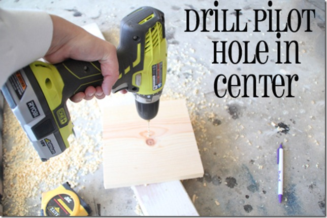 drill hole in base