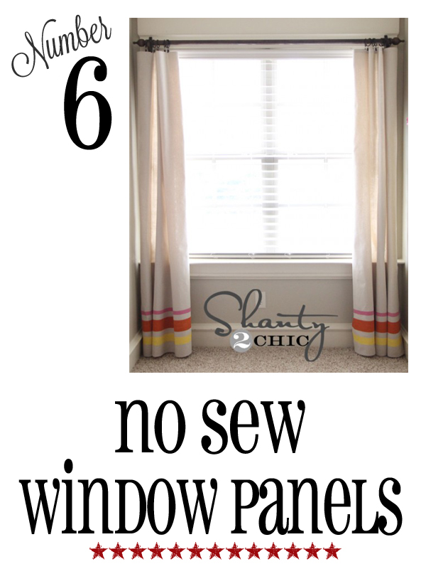 no sew window panels