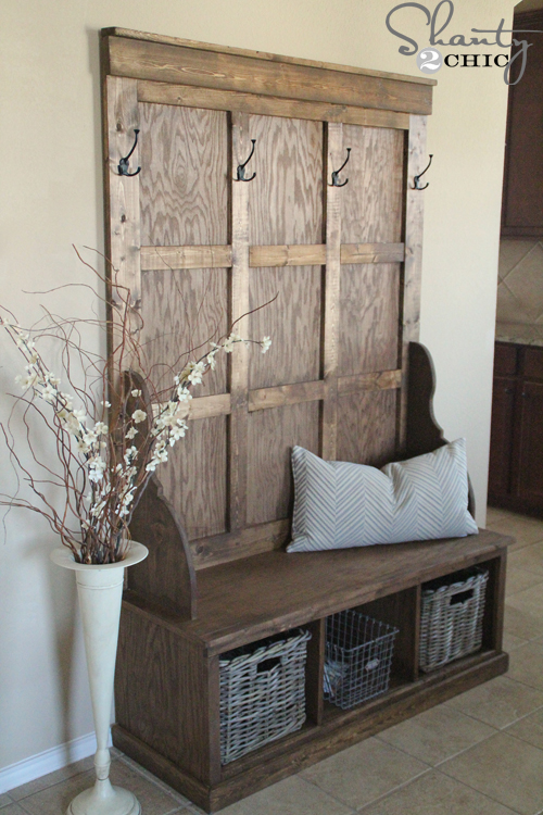 Build Foyer Bench : Pdf diy how to build a hall tree storage bench download
