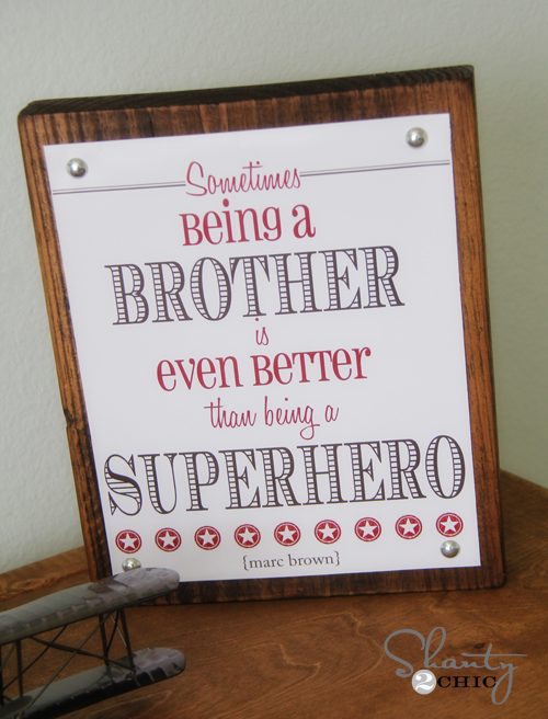 free printable brother superhero quote