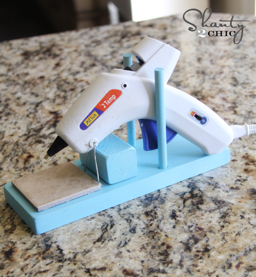 Make Hot Glue Gun Holder