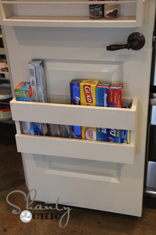 kitchen pantry door storage racks kitchen organization diy foil amp more organizer shanty 8379