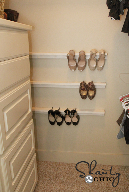 closet organization shoe organizers diy shanty 2 chic. Black Bedroom Furniture Sets. Home Design Ideas