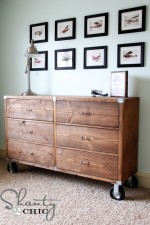 DIY Furniture – Wood Dresser with Wheels!