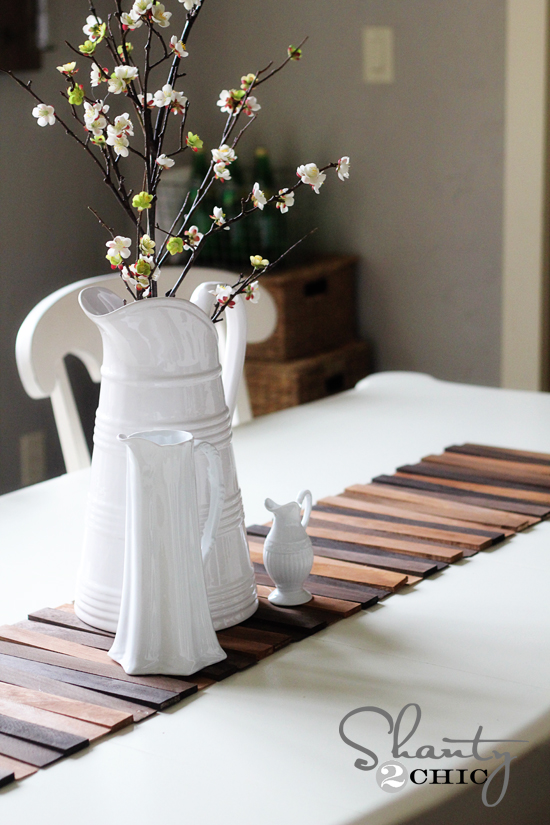 Woodwork diy projects with wood shims pdf plans for Easy diy table runner