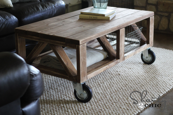 Diy rustic coffee table plans woodguides Homemade coffee table plans