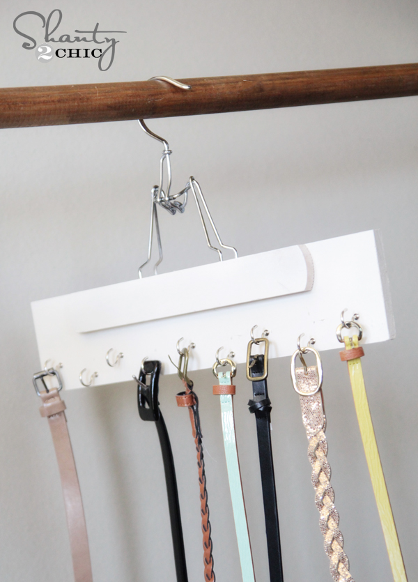 DIY Belt Hanger