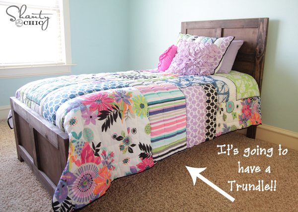 twin bed plans with trundle