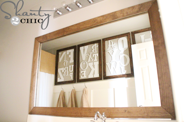 DIY Mirror ~ Easy Upgrade - Shanty 2 Chic