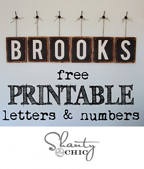 Free Printable Letters s2c