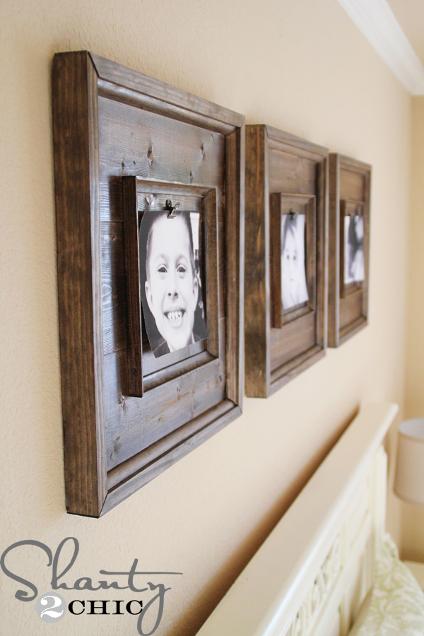 DIY Wall Art ~ $15 Wooden Frames - Shanty 2 Chic