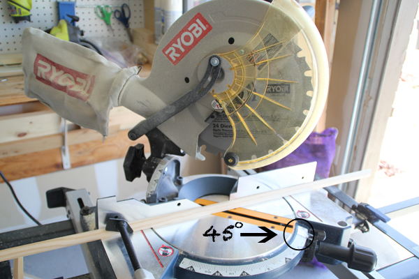 how to cut quarter round with miter saw