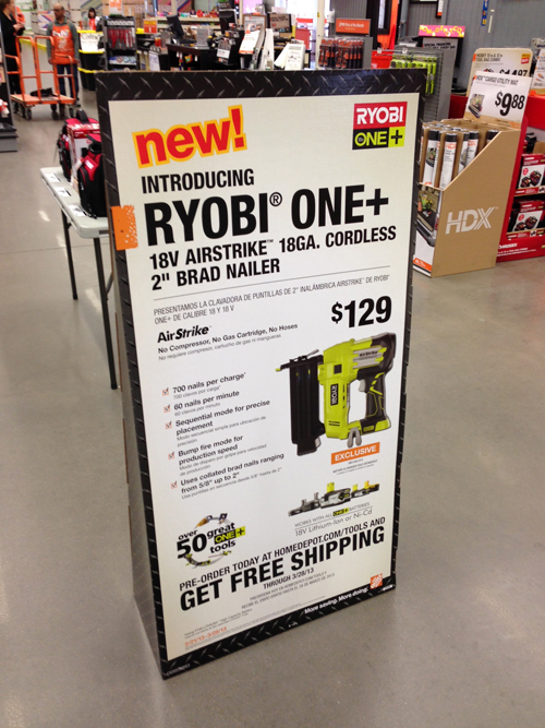 Ryobi Airstrike Brad Nailer