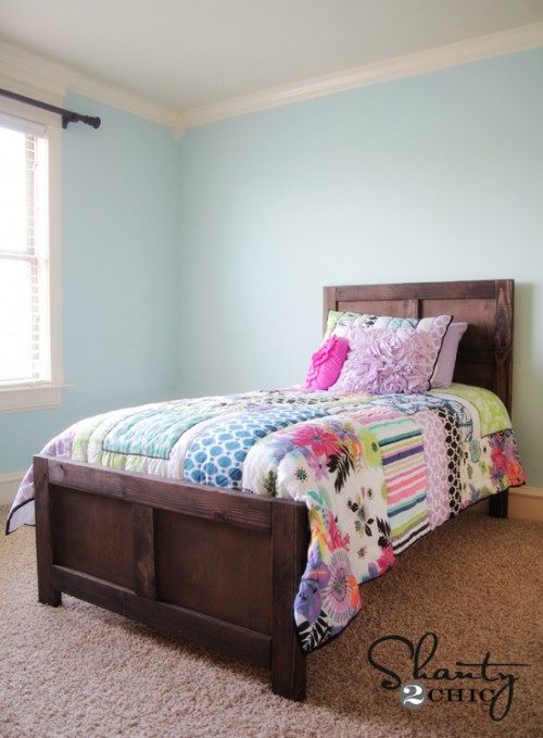 DIY bed from Shanty-2-chic.com