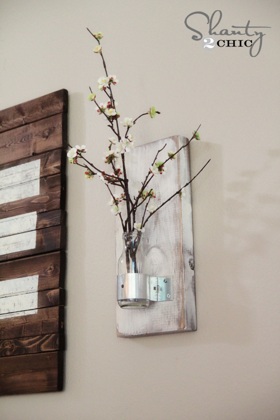 DIY Wall Sconce with Bottle